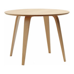 "Cherner - Cherner Round Table - The Cherner Round Table, made from molded plywood in the USA, was designed to complement Cherner chairs. Lightweight and strong, the Cherner Round Table's top is 1.125"" thick. Table is 29.5"" H x 40-48"" in diameter."