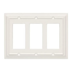 Liberty Hardware - Liberty Hardware 126337 Wood Architectural WP Collect 5.51 Inch Switch Plate - W - A simple change can make a huge impact on the look and feel of any room. Change out your old wall plates and give any room a brand new feel. Experience the look of a quality Liberty Hardware wall plate.. Width - 5.51 Inch,Height - 7 Inch,Projection - 0.4 Inch,Finish - White,Weight - 0.26 Lbs