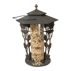 "Whitehall Products LLC - 12"" Chickadee Silhouette Feeder - Oil Rub Bronze - Features:"