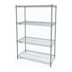 InterMetro Industries - Metro Shelving Unit - 48x18x54 - As the original wire storage shelving system and still the industry leader, Metro shelving continues to evolve and aims to meet the diversity of todays storage challenges. These professional grade units hold more weight. The four (4) shelves can be positioned, or re-positioned, at precise 1 increments along the length of the posts.  Open wire design minimizes dust accumulation and allows for free circulation of air and greater visibility of stored items. Casters (sold separately) available for mobile applications. This post-based shelving system, created in 1965, is recognized worldwide as the most popular commercial shelving system ever.  Assembly required