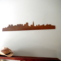 San Francisco Skyline Wooden Wall Sign - Enjoy a view of the beautiful City by the Bay from a comfy spot in your own home, fog not included. I've lived in the Bay Area for 9 years and still have my breath taken away by the beautiful vistas to be discovered all around the city.