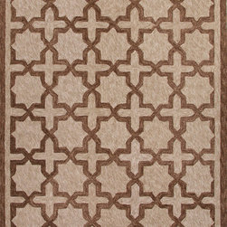 Jaipur Rugs - Moroccan Pattern Polyester Taupe/Tan Indoor-Outdoor Area Rug ( 2x3 ) - These Catalina rugs will add a pop to any outdoor space with its rich inspiration from Moroccan trellis and tile patterns.