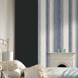 Graham & Brown - Twine Wallpaper - Our beautiful crafted blue, layers of twine are laced with mica to create an easy living organic stripe wallpaper which will create warm and a homely feel to your home.