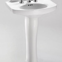 TOTO - TOTO LT642.8#01 Dartmouth Pedestal Lavatory Sink with Three Holes, Cotton White - TOTO LT642.8#01 Dartmouth Pedestal Lavatory Sink with Three Holes, Cotton White When it comes to Toto, being just the newest and most advanced product has never been nor needed to be the primary focus. Toto's ideas start with the people, and discovering what they need and want to help them in their daily lives. The days of things being pretty just for pretty's sake are over. When it comes to Toto you will get it all. A beautiful design, with high quality parts, inside and out, that will last longer than you ever expected. Toto is the worldwide leader in plumbing, and although they are known for their Toilets and unique washlets, Toto carries everything from sinks and faucets, to bathroom accessories and urinals with flushometers. So whether it be a replacement toilet seat, a new bath tub or a whole new, higher efficiency money saving toilet, Toto has what you need, at a reasonable price.