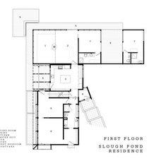 Modern Floor Plan Truro Mid-Century Modern
