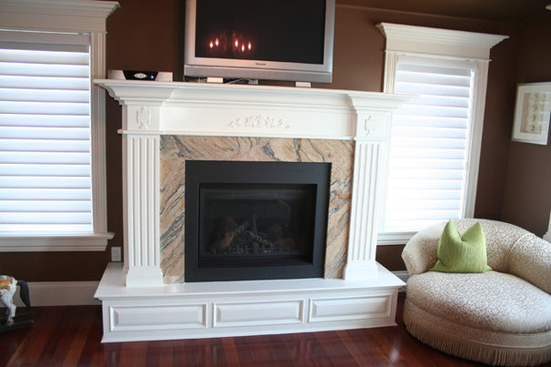 Contemporary Indoor Fireplaces by Moulding Warehouse