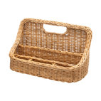 Kouboo - Wicker Desk Organizer - Clear the decks! Wherever clutter lurks — in your home office, on your kitchen counter — this wicker caddy is there to keep you organized.