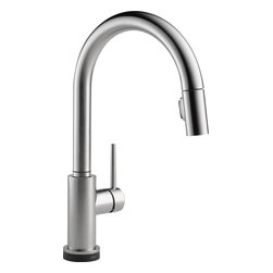 Delta Touch2O Kitchen Faucet - Delta 9159T-AR-DST Trinsic Single Handle Pull-Down Kitchen Faucet Featuring Touch2O® and Diamond Seal Technology in Arctic Stainless