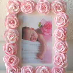 RR - Pink Roses Picture Frame - Pink Roses Picture Frame
