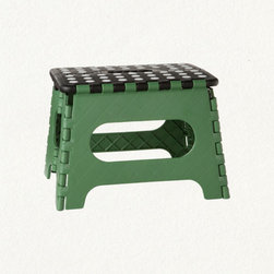 Folding Step Stool - This step stool is clever and cute at the same time. The design with lime green and polka dots means you might not want to put this away. But, if space is a premium (like at my house) you can fold it up and put it away.