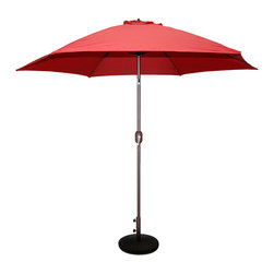 Tropishade - Tropishade 9-foot Bronze Aluminum Red Market Umbrella - Add an extra-nice touch to your outdoor setting with the Tropishade 9-foot market umbrella. This outdoor patio umbrella is waterproof with an aluminum bronze finish,making shady area to rest.