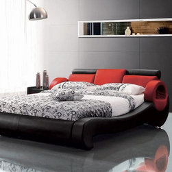 9026 Modern Leather Bed - 9026 Modern Leather Bed