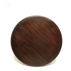 No. 660 Round, Plain Top, Banded Edge, Cherry, Mocha Finish, Severe Antique Dist -