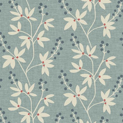 Brewster Home Fashions - Currant Blue Botanical Trail Wallpaper Swatch - This artistically designed wall paper brings an enchanting botanical trail to life on walls. Coated in a rich blue hue with pink and cream accents this flourishing pattern is both playful and chic.