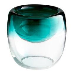 Cyan Design - Cyan Design 06714 Green Glass Large Abyssal Bowl - Cyan Design 06714 Green Glass Large Abyssal Bowl