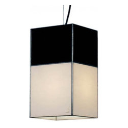 """Arturo Alvarez - Arturo Alvarez Sombras large pendant lamp - The Sombras large pendant lamp from Arturo Alvarez was designed by Arturo Alvarez and made in Spain. The Sombras large pendant lamp is a set of chiaroscuro, light and shadow that seeks the balance and sobriety of the spaces it illuminates.   Products description: The Sombras large pendant lamp from Arturo Alvarez was designed by Arturo Alvarez and made in Spain. The Sombras large pendant lamp is a set of chiaroscuro, light and shadow that seeks the balance and sobriety of the spaces it illuminates. Details:                         Manufacturer:                         Arturo Alvarez                                         Designer:                         Arturo Alvarez - 2003                                         Made  in:            Spain                            Dimensions:                         Height: 96"""" (243.8cm) X Width: 6.75"""" (17.1cm)                                                     Light bulb:                                      1 X 100W E26 or 1 x 18W GX24 4 Pin Fluorescent                                         Material                         Metal, glass"""