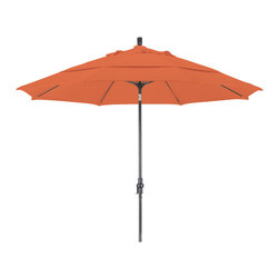 California Umbrella - 11 Foot Sunbrella Crank Lift Collar Tilt Aluminum Market Umbrella, Bronze Pole - California Umbrella, Inc. has been producing high quality patio umbrellas and frames for over 50-years. The California Umbrella trademark is immediately recognized for its standard in engineering and innovation among all brands in the United States. As a leader in the industry, they strive to provide you with products and service that will satisfy even the most demanding consumers.