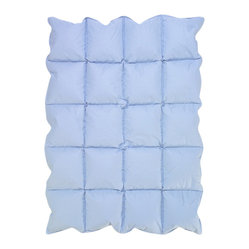 Sweet Jojo Designs - Baby Down Blue Blanket by Sweet Jojo Designs - Get down with it! This cozy blanket is plumped full of billowy down, providing your little one with a layer of lightweight warmth that can be enjoyed year-round.