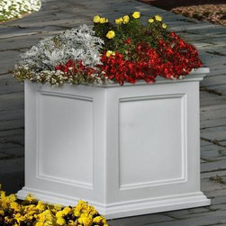 Fairfield 20 Inch Square Planter - This is the Fairfield 20 inch square patio planter.  It is available for $119.00 with free shipping from http://www.eplanters.com