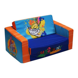 Warner Brothers - Warner Brothers Looney Tunes Bugs Bunny Kids Flip Sofa - 31162 - Shop for Childrens Sofas from Hayneedle.com! The Komfy Kings Warner Brothers Looney Tunes Bugs Bunny Kids Flip Sofa can help you get the most out of limited space. This versatile foam sofa is comfortable seating for two small children and then it flips open into a sofa bed! The removable polyester slipcover has a Bugs Bunny theme and it is easily cleaned with mild soap and water. It's perfect for naptime or sleepovers or buy one and leave it at Grandma's house! Made in the USA.