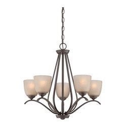 Quoizel Lighting - Quoizel RL5005WT Radcliff 5 Light Chandelier, Western Bronze - The Radcliff series will add distinction above a dining table or casual seating area. The pared-down style has a timeless look with soft curves and a versatile Western Bronze finish.