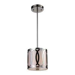 ELK Lighting - ELK Lighting 10172/1 Anastasia 1 Light Pendants in Polished Nickel - This 1 light Pendant from the Anastasia collection by ELK will enhance your home with a perfect mix of form and function. The features include a Polished Nickel finish applied by experts. This item qualifies for free shipping!