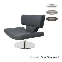 Harper Lounge Chair, Light Grey Wool