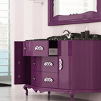 Macral Venezia 60 and 5/8 inches. Bathroom cabinet . Aubergine. - Macral Venezia bathroom vanity 60 and 5/8 inches.