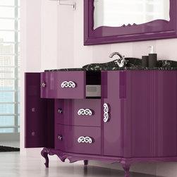 Macral Venezia 60 and 5/8 inches. Bathroom cabinet . Aubergine. - Macral Venezia bathroom vanity 60 and 5/8 inches.