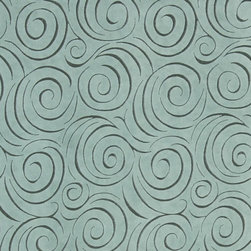 Aqua Green Abstract Swirl Microfiber Upholstery Fabric By The Yard - P0223 is great for all indoor upholstery applications including: automotive, residential, commercial and hospitality. Microfiber fabrics are inherently stain resistant, durable and machine washable. In addition, all of our microfiber fabrics are made in America.
