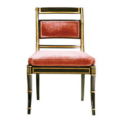 Regency Side Chair - I love this chair for how absolutely funky and fresh it feels, although it is based on a Regency design - amazing.
