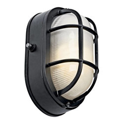 Kichler - Kichler No Family Association Outdoor Lighting Fixture - Shown in picture: Outdoor Sconce 1-Light Fluorescent in Black (Painted)
