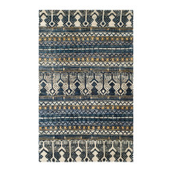 """Safavieh - Parker Textured Rug, Blue 5' X 8' - Construction Method: Hand Knotted. Country of Origin: India. Care Instructions: Vacuum Regularly To Prevent Dust And Crumbs From Settling Into The Roots Of The Fibers. Avoid Direct And Continuous Exposure To Sunlight. Use Rug Protectors Under The Legs Of Heavy Furniture To Avoid Flattening Piles. Do Not Pull Loose Ends; Clip Them With Scissors To Remove. Turn Carpet Occasionally To Equalize Wear. Remove Spills Immediately. Safavieh's Bohemian Collection is all-organic, with exquisitely fine jute pile woven onto a cotton warp and weft, and an earthy natural color palette. The high quality jute chosen for our Bohemian rugs is biodegradable and recyclable, with an innate sheen because it is harvested only from Cannabis Sativa (commonly known as the """"true hemp"""" plant), a quickly renewable resource that excels in length, durability, anti-mildew and antimicrobial properties. Safavieh brings fashion excitement to the eco-friendly rug category with the Bohemian collection's unique patterns, ribbed textures and remarkable hand. The rugs are washed to soften the yarn, and then brushed to an even more lustrous sheen. Hand Knotted in India."""