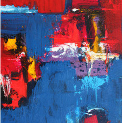 River Deep (Original) by Craig Moser - This is a bold, original abstract created in 2014 by TX artist Craig Moser. The piece comes with a signed certificate of originality.