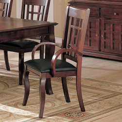 Coaster - Newhouse Collection Arm Chair in Cherry, Set of 2 - Create a fantastic setting for dining in your home with the elegant Newhouse collection, in a warm Cherry finish over birch veneers that will blend beautifully with your decor.