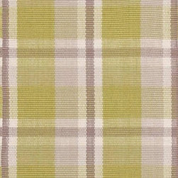 Dash & Albert Brewster Indoor/Outdoor Rug by Bunny Williams, 24 X 36, Plaid - Designer Bunny Williams collaborates with Annie Selke to create an irresistible line of transitional area rugs for your everyday home. Dash & Albert Brewster  Indoor/Outdoor Rug by Bunny Williams rugs are hoseable, srcubable and made from recycled materials. A classic plaid in moss green, grey and beige. These indoor out door rugs are so soft and durable that you can use them in any room or outside.