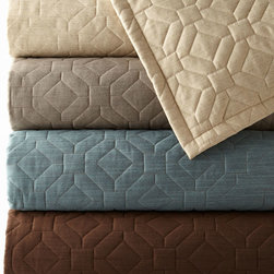 """Dian Austin Couture Home - King Geometric Quilt 106"""" x 96"""" - TRUFFLE(BROWN) (KING) - Dian Austin Couture HomeKing Geometric Quilt 106"""" x 96""""DetailsRayon/polyester/flax with all-over geometric stitching. Backed with cotton/polyester.Dry clean.Made in the USA of imported fabrics.Designer About Dian Austin Couture Home:Taking inspiration from fashion's most famous houses of haute couture the Dian Austin Couture Home collection features luxurious bed linens and window treatments with a high level of attention to detail. Introduced in 2006 the collection features extraordinary textiles from around the world."""