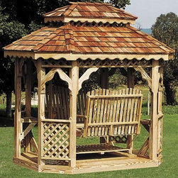 Fifthroom - Wood Oval Gazebo Swing -