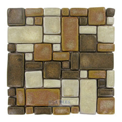 Stellar Tile - Cobble - Ceramic Mosaic Tile in Tahoma -