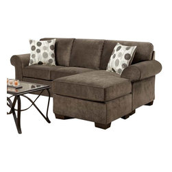 Chelsea Home Furniture - Chelsea Home Worcester Sofa Chaise in Elizabeth Ash - Worcester sofa Chaise in Elizabeth Ash belongs to the Chelsea Home Furniture collection .