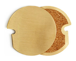 Hatch Hub - Brass Broach Coasters, Set of 4 - A very smart coaster which also functions as a bottle opener. Sold in set of 4. Grab, Broach and Enjoy!