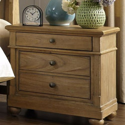 Liberty Furniture - Liberty Furniture Harbor View 2 Drawer Night Stand in Sand Finish - Liberty Furniture Harbor View 2 Drawer Night Stand in Sand Finish