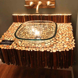 Reclaimed Wood Twig Sink -