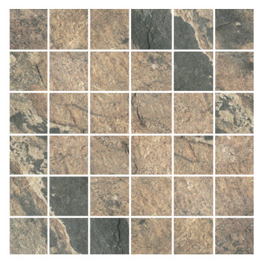Raja Collection Vijay Sand Mosaic - Raja replicates the exotic slate found in India thanks to the most advanced inkjet technology.