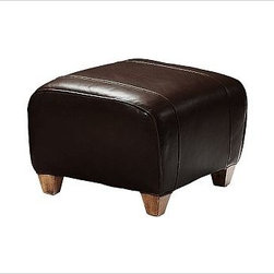 """Manhattan Ottoman, Leather Espresso - With its signature blend of quality, value and style, our Manhattan Ottoman is a Pottery Barn classic. It pairs perfectly with our Manhattan Leather Club Chair. 24"""" w x 20"""" d x 16"""" h {{link path='pages/popups/PB-FG-Manhattan-3.html' class='popup' width='720' height='800'}}View the dimension diagram for more information{{/link}}. {{link path='pages/popups/PB-FG-Manhattan-4.html' class='popup' width='720' height='800'}}The fit & measuring guide should be read prior to placing your order{{/link}}. Ottoman has a polyester-wrapped cushion. Proudly made in America, {{link path='/stylehouse/videos/videos/pbq_v36_rel.html?cm_sp=Video_PIP-_-PBQUALITY-_-SUTTER_STREET' class='popup' width='950' height='300'}}view video{{/link}}. For shipping and return information, click on the shipping info tab. When making your selection, see the Quick Ship and Special Order leathers below."""