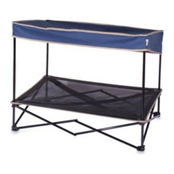 Quik Shade - Quik Shade Medium Outdoor Instant Pet Shade with Elevated Mesh Bed in Navy - Keep your pet cool and safe from harmful UV rays with this portable outdoor instant pet shade with elevated mesh bed. It features a sturdy steel frame and durable PVC-backed polyester construction designed to withstand the rigors of outdoor use.