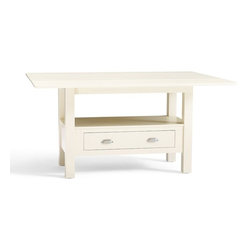 Ryland Drop-Leaf Kitchen Table - This white drop-leaf table would be great for a small cottage. You can use the leaves when you're having family or friends over, and put them back down when it's just you.
