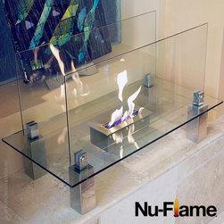 Nu-Flame - Nu-Flame Fiero Modern All Glass Floor Fireplace