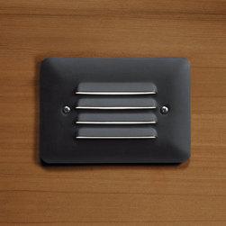 Kichler Lighting - Kichler Lighting 15782BKT Outdoor Led 1 Light Deck/Step Lighting - LED Louvered Mini Step