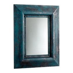 Ancient Blue Wood Wall  Mirror - *Chinito Mirror